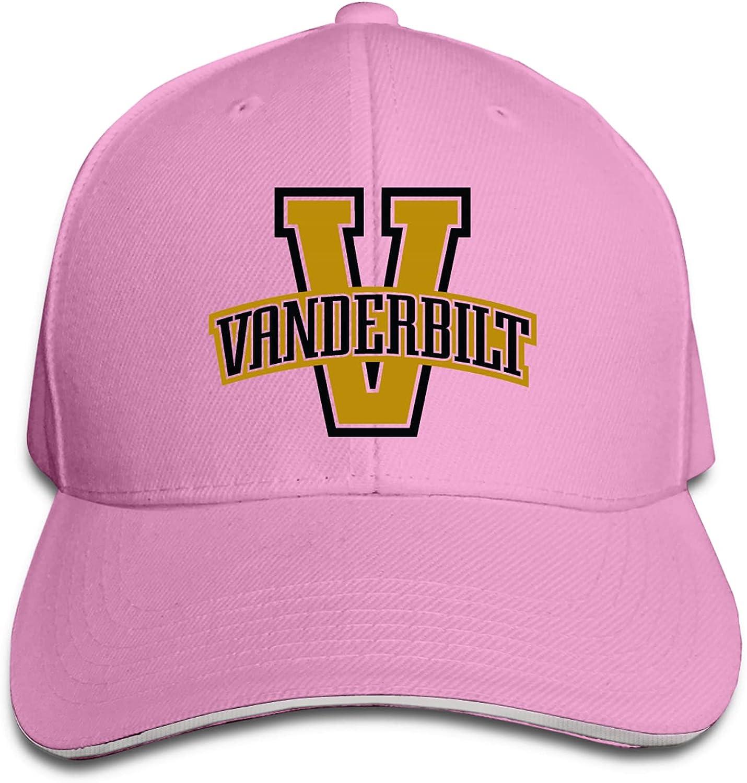 Vanderbilt University Everyday Outdoor Adult Peaked Bucket Cap Men's and Women's Baseball Cap