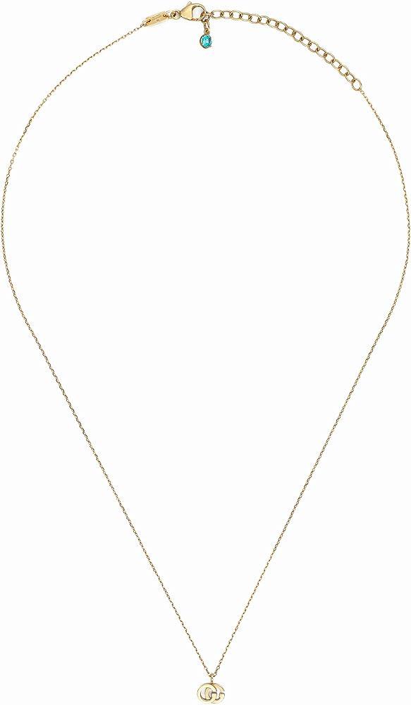 Gucci gg running,  collana per donna in oro giallo 18k e topazio YBB48163800100U