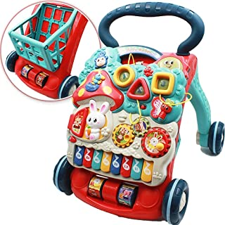 Mumoo Bear Sit-to-stand baby walker 3 modes sitting, standing, and walking with light and music baby toys toddler toys for...
