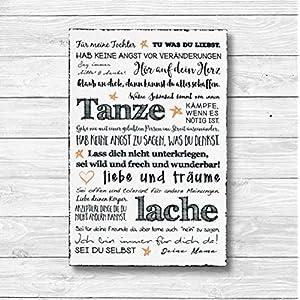 Für meine Tochter – Dekoschild Wandschild Holz Deko Wand Schild 20x30cm Holzdeko Holzbild Mitbringsel Geburtstag…
