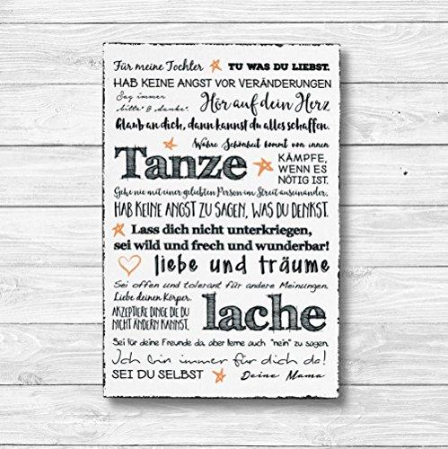 Für meine Tochter - Dekoschild Wandschild Holz Deko Wand Schild 20x30cm Holzdeko Holzbild Geschenk Mitbringsel Geburtstag