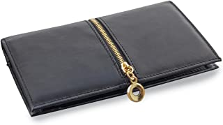 Women's Elegant Leather Checkbook Wallet Long with RFID Blocking Protection
