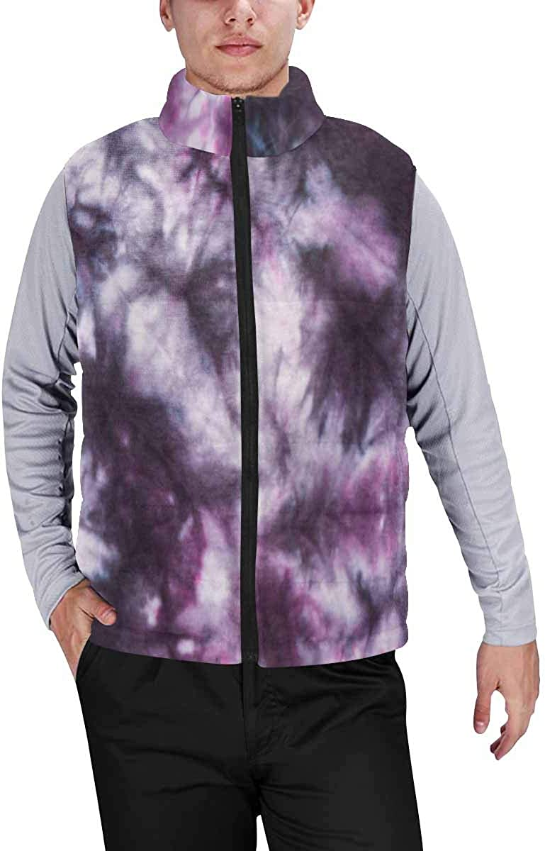 InterestPrint Men's Full-Zip Soft Warm Winter Outwear Vest Abstract Periodic Table