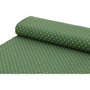 algodón de Punto con Lunares de Color Verde y Azul y Blanco, se ...