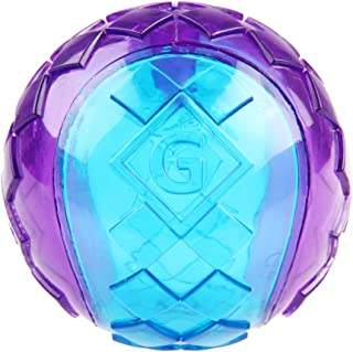 GiGwi Ball Squeaker Ball Transparent Small, 6295, red/violet
