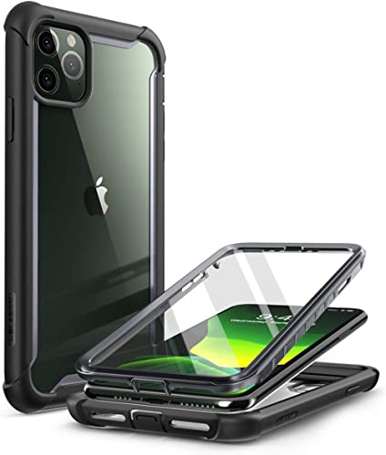 i-Blason Ares Case for iPhone 11 Pro Max 2019 Release, Dual Layer Rugged Clear Bumper Case with Built-in Screen Prote...