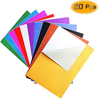 Nexxxi 10 Pack Glitter Paper Sheet Sparkles Self Adhesive Sticky for Children's Craft Activities DIY Cutters Art Assorted Colors(8.27