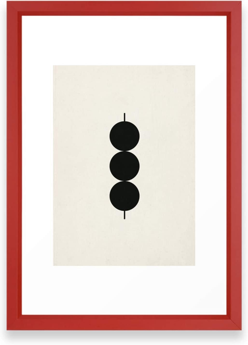 Society6 Link by Rose Beck Mail order cheap on Framed Red Vector Art Sm Rapid rise Print -