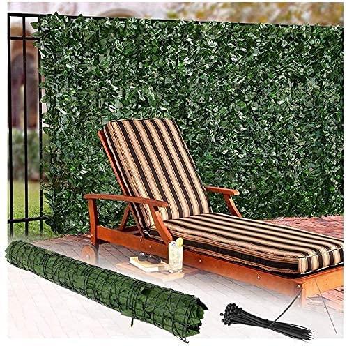 EIIDJFF Künstliche Efeu Garten Privatsphäre, die die Gartenwand bedeckt Dekorative Zäune Garten Privatsphäre Zaun Efeu Hecke Künstliche Hecke Efeu Bildschirm