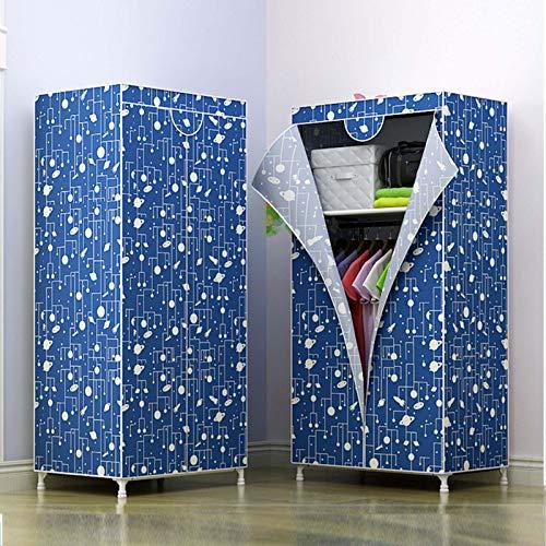 GYAM Stoff Kleiderschrank, Single Canvas Closet Storage Cabinet, Handliche Installation, für Schlafsäle, Schlafzimmer, Umkleideraum, 150x70x45cm,A1,Roller Blind
