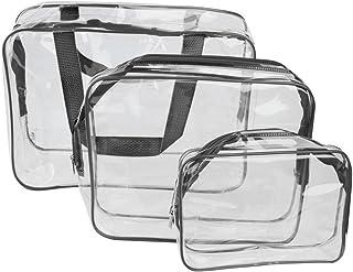 ROSENICE 旅行出張用 透明化粧品バッグ ブラック