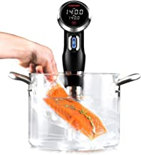 Chefman Sous Vide Immersion Circulator w/ Precise Temperature, Programmable Digital Touch Screen Display and Easy to Use Controls, Black (Renewed)