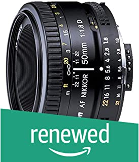 (Renewed) Nikon 50mm Nikkor F/1.8D AF Prime Lens for DSLR Camera