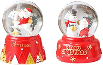 Purplert Christmas Snow Globe Music Box,Santa Claus Musical Box For Children's Gift Decoration