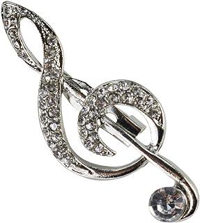 Bobury Spilla Moda strass Musica Nota brooches di Pin regalo dei monili