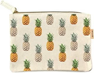 Me Plus Eco Zipper Pouch Stylish Printed, Traveler Organizer, Cosmetic Small Makeup, Students BTS Organization Bag - 22 Pattern options (Multi Pineapple)