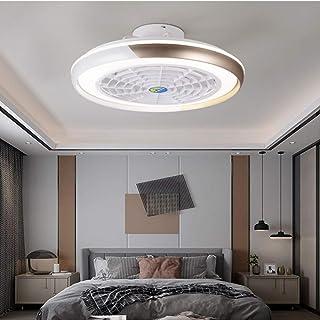 Ventilador De Techo Inteligente De Diseño Moderno Con Función De Control Remoto Y Luces LED, Motor Silencioso, Velocidad E Iluminación Ajustables Del Viento, Energy Star,Marrón