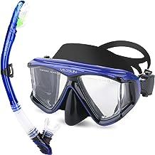 V VILISUN Snorkel Set, Adult Snorkeling Set, Ultra Panoramic Wide View, Anti-Fog Anti-Leak Dry Top Snorkel, Impact Resista...