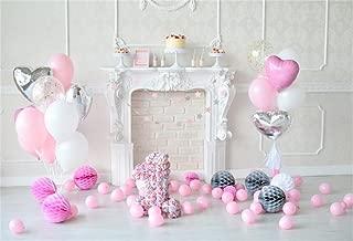 AOFOTO 5x3ft 1st Birthday Interior Backdrop Sweet Balloon Cake Smash Photography Background Paper Pom Party Decoration Banner Photo Studio Props Baby Girl Kid Infant Artistic Portrait Vinyl Wallpaper