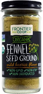 Frontier Natural Products Fennel Seed, Og, Ground, 1.48-Ounce