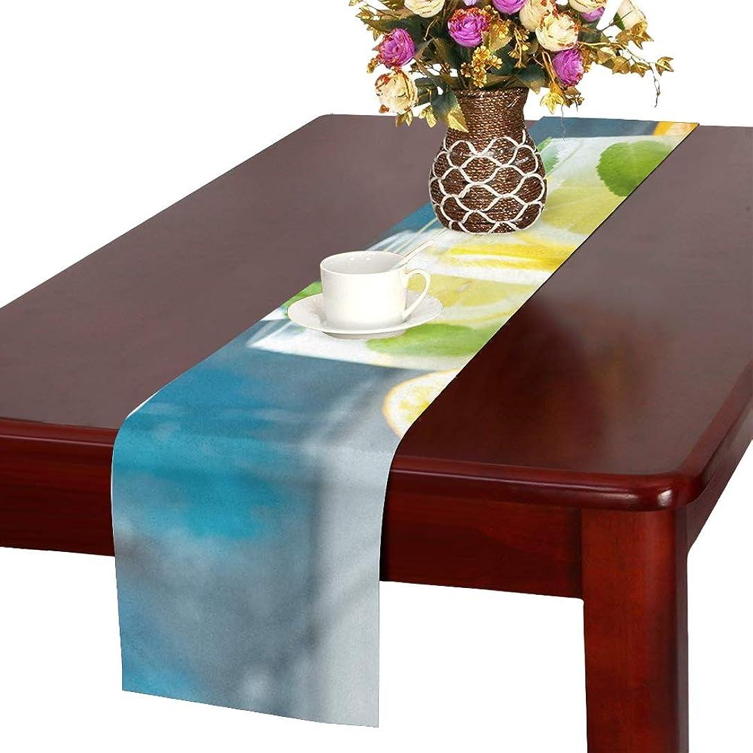 彫る休みトレイルLKCDNG テーブルランナー 爽やかな地色 クロス 食卓カバー 麻綿製 欧米 おしゃれ 16 Inch X 72 Inch (40cm X 182cm) キッチン ダイニング ホーム デコレーション モダン リビング 洗える