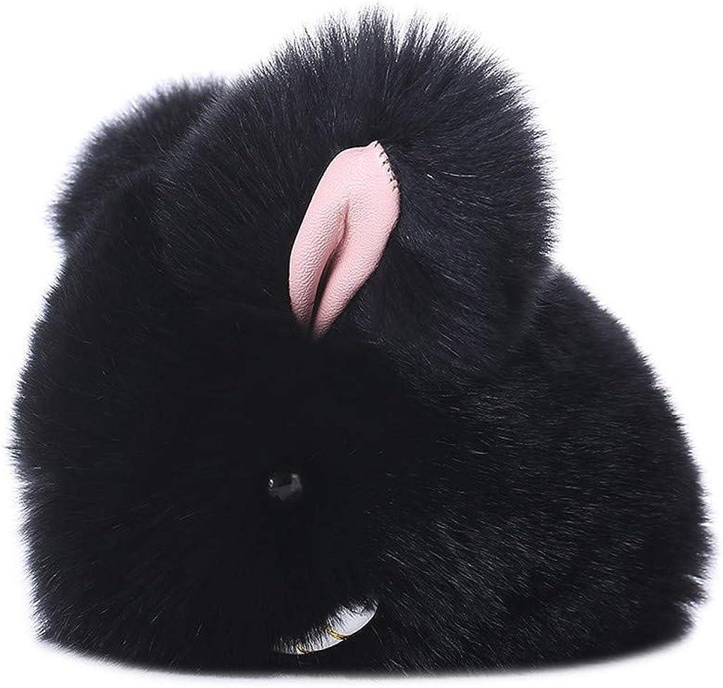 Bunny Keychain Soft Cute Fur Keychain Car Handbag Keyring For Birthday Gifts