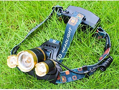 3000 Lumen Scheinwerfer, Taschenlampe 3 XM-L T6 LED, Wand-Ladegerät und der Akku, Wandern, Camping, Reiten, Angeln, Jagen, Outdoor-Abenteuer. - 4