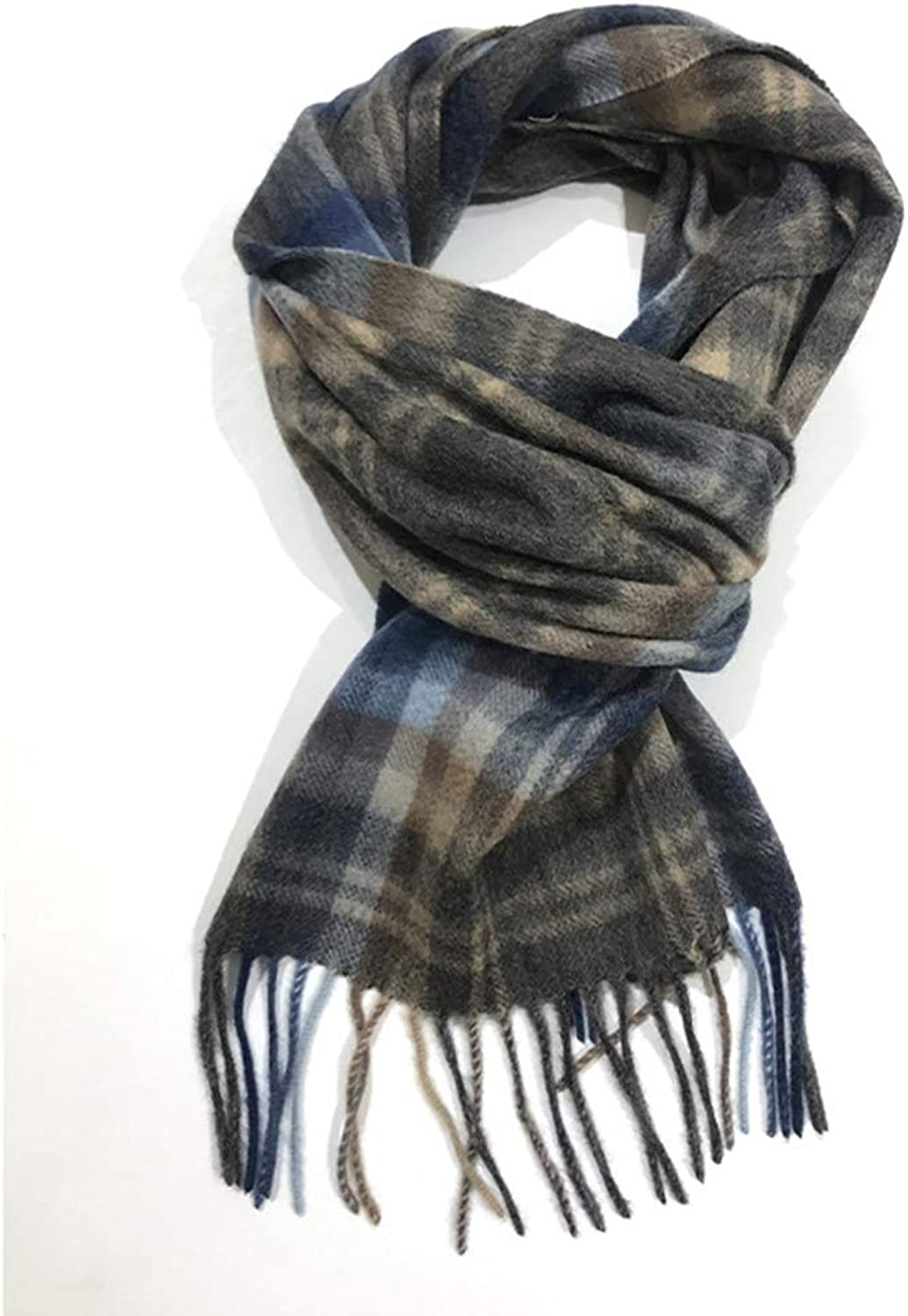 Cold and Soft Multi-color Men's Autumn and Winter Scarf (color   color B)