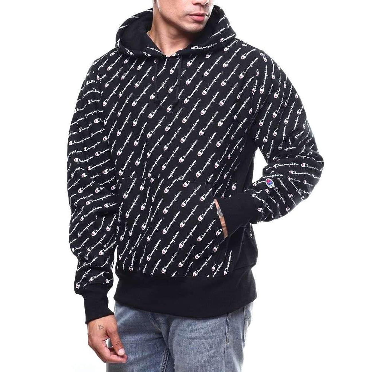 病な矢印上流の(チャンピオン) Champion メンズ トップス パーカー reverse weave all over print hoodie [並行輸入品]
