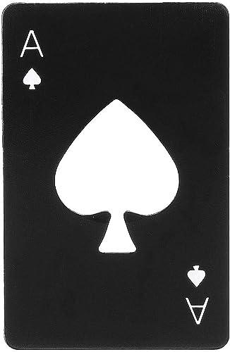 PRO365® Casino Poker Bottle/Bar/Beer/Soda Steel Opener Card Size(Black)