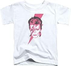 David Bowie Aladdin Sane-S S Toddler Tee-White(2T)