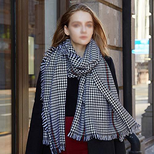 BNXTF sjaal, winterlange zachte warme Schotse ruiten sjaal wraps voor vrouwen wollen sjaal lange wrap 100% wol