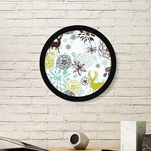 DIYthinker herten decoratie bloem kerst dier ronde fotolijst kunst prints van schilderijen thuis muursticker cadeau