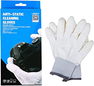 VSGO DDG-1 Professional Anti-Static Cleaning Gloves White Dust-Free for Camera, Sensor Cleaning