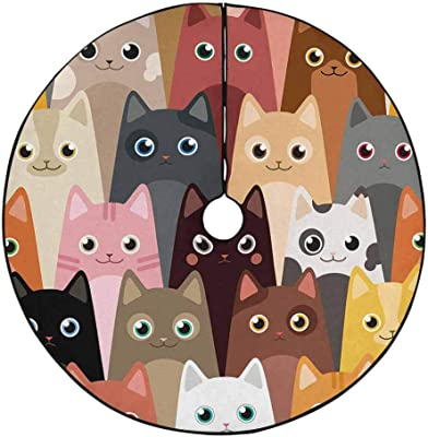 Amazon Com Interestprint Cats Cartoon Tree Mat Christmas Tree Skirt Home Kitchen ✓ free for commercial use ✓ high quality images. amazon com