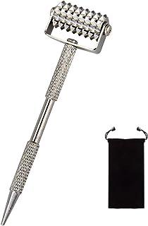 ダーマローラー,鍼灸の先生の薦めで自宅でできる美容鍼灸マッサージ, 頭皮マッサージ持ち運び袋付き(銅製)