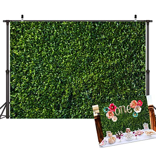 Art Studio 3D Green Leaves Photography Backdrops Spring Nature Safari Party Decoration Outdoorsy Newborn Baby Shower Backdrop Wedding Birthday Photo Background Studio Props Booth Vinyl 7x5ft