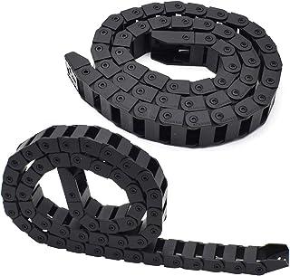 Kabel Sleepketting Zwart,Tianher 2 Stuks Kabeldrager Zwart Sleepketting Kabelgeleiding Kabelsleepketting Kabel Drag Chain ...