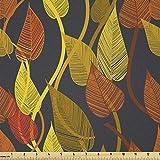 Lunarable Herbststoff von The Yard, Nostalgische Blätter