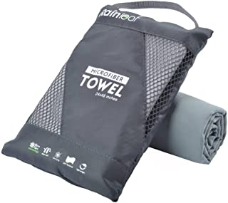Rainleaf Microfiber Towel Perfect Travel & Sports &Beach Towel. Fast Drying - Super Absorbent - Ultra Compact. Suitable for Camping, Backpacking,Gym, Beach, Swimming,Yoga