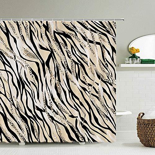 XCBN Kreativer Zebra Tier Duschvorhang wasserdicht und schimmelresistent Stoff waschbar Bad Duschvorhang Vorhang A4 150x180cm