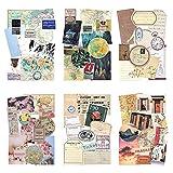 Papel de patrón vintage con adhesivo Washi Papel de álbum de recortes Papel Kraft decorativo con...