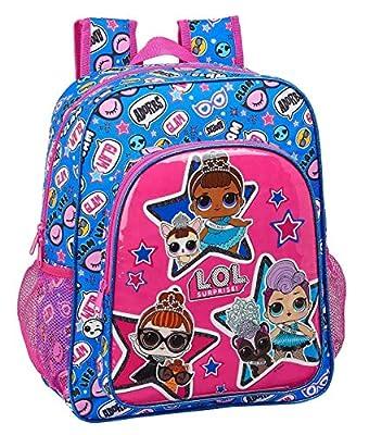 LOL Surprise Together Mochila Junior Niña Adaptable Carro, Multicolor