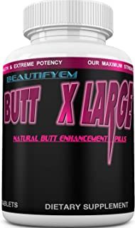 Butt X-Large Butt Enlargement, Booty Enhancement. Butt Enhancer Pills. Natural Bigger Glutes. 1 Month Supply