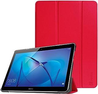 Fintie SlimShell Funda para Huawei MediaPad T3 10 - Súper Delgada y Ligera Carcasa Protectora con Función de Soporte para Huawei Mediapad T3 10 Tablet 9.6 Pulgadas IPS HD, Rojo