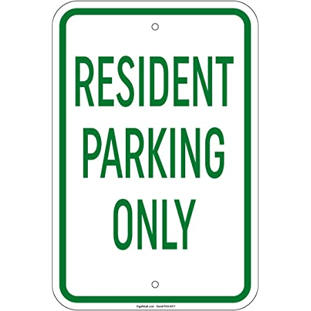 """Guest Parking Only Sign 8/""""x12/"""" Aluminum Signs Retail Store"""