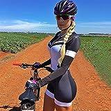 Camiseta de ciclismo para mujer Equipo de montar en bicicleta uniforme de bicicleta triatlón con traje de traje de baño conjunto (Color : Kafitt20 115, Size : Medium)