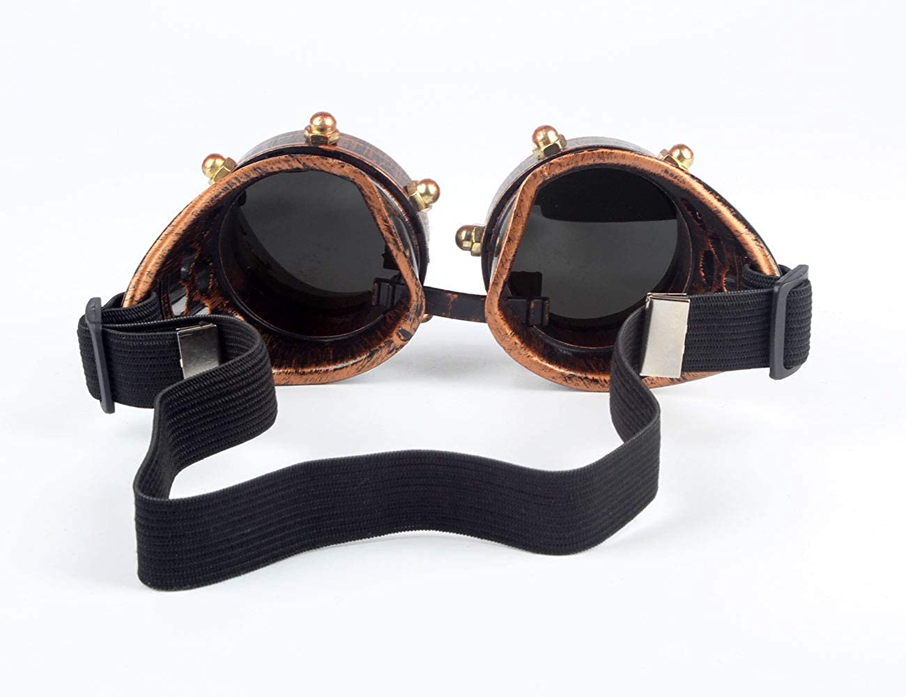 OMG/_Shop Steampunk Glasses Halloween Goth Cosplay Vintage Goggles Rustic