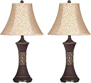 Ashley Furniture Signature Design - Mariana Poly Table Lamps - Traditional - Set of Two - Antique Brown