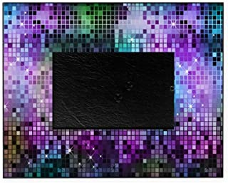 CafePress-Disco Mirrors in Purple and Green-Picture Frame